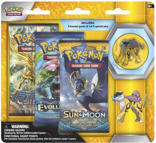 Pokemon Raikou Collector's Pin 3-pack blister