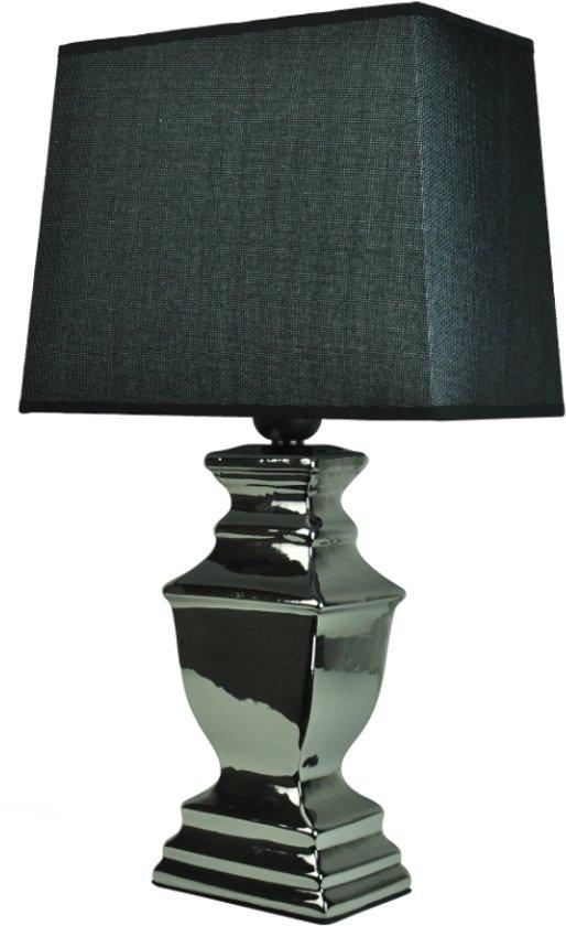 Fabulous bol.com | Woon247 Tafellamp Zilver set van 2 inclusief bijpassende CM16