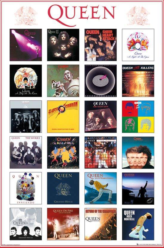 Poster Queen album covers