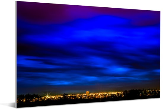 Wolken boven Brasilia in Zuid-Amerika Aluminium 60x40 cm - Foto print op Aluminium (metaal wanddecoratie)