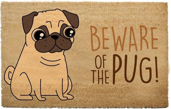 Deurmat mopshond hond thema dieren