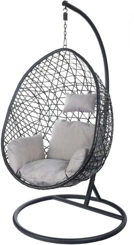 Hangstoel Wit Egg.Egg Hangstoel Cocoon Relax Zwart