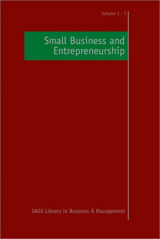 entrepreneurship and small business management research