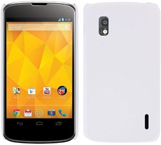 LG Nexus 4 - hoes cover case - PC - Wit