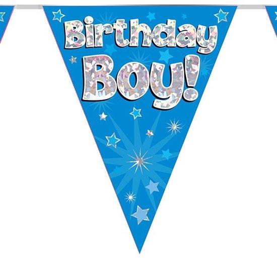 Vlaggenlijn holograpic birthday boy