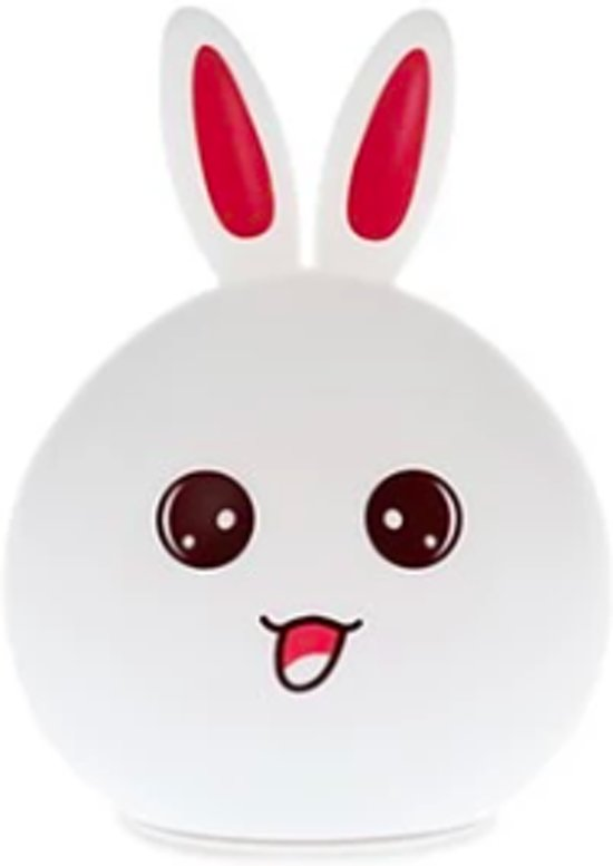 Bunny Nachtlampje Oplaadbaar | Konijn Nachtlamp | Rabbit Night Light | Siliconen Oplaadbare Nachtlamp | Kinderlamp | USB Rechargeable Night Light