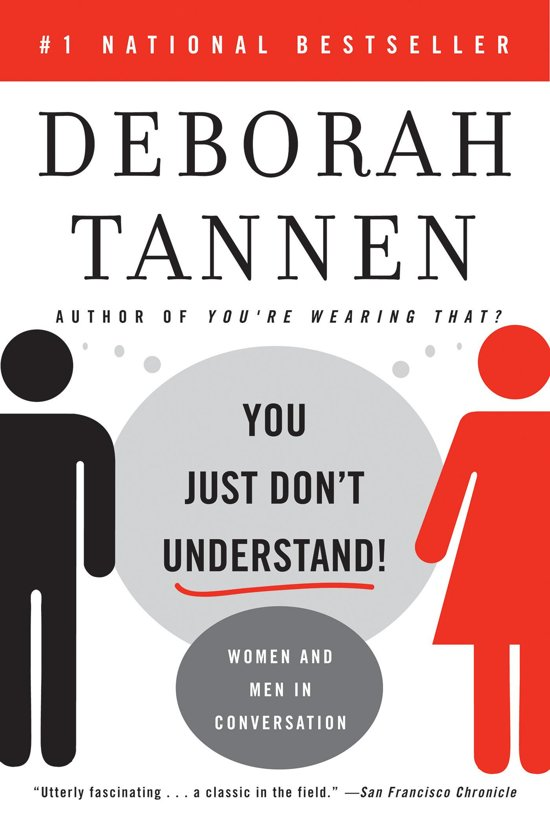 a response to deborah tannens the Student researched analysis of the theses by deborah tannen called sex, lies and conversation: why is it so hard for men and women to talk to each other.