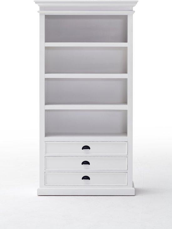 bol.com | Witte Boekenkast met lades | 100 x 40 x 190 cm