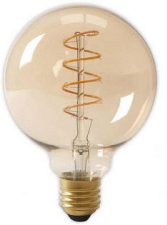 LED E27-G125-Filament lamp - 4W - 2700K - 400Lm - Curved - Amber