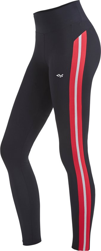 Röhnisch Shape Stripe Sportlegging Dames - Red - Maat L