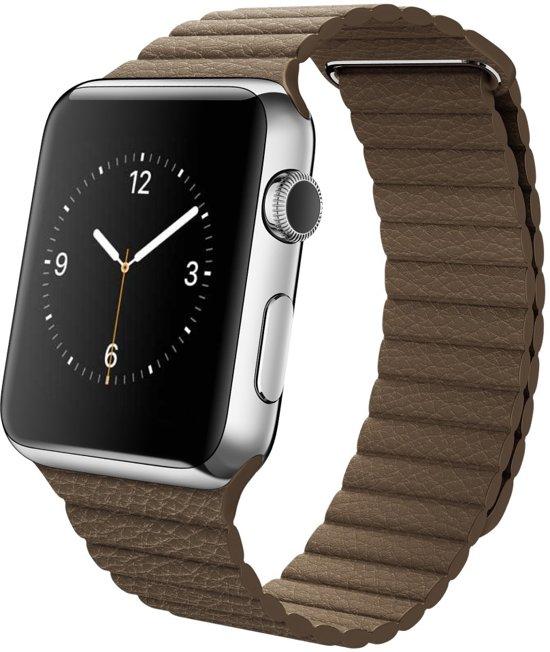 Leren Bandje met Magneetsluiting voor Apple Watch - Bruin - 42mm