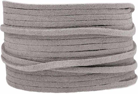 Faux Suede Veter (3 mm) Light Grey (10 Meter)