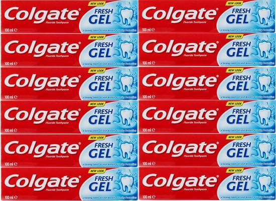 Colgate Tandpasta Fresh Gel - 12 x 100 ml - voordeelverpakking
