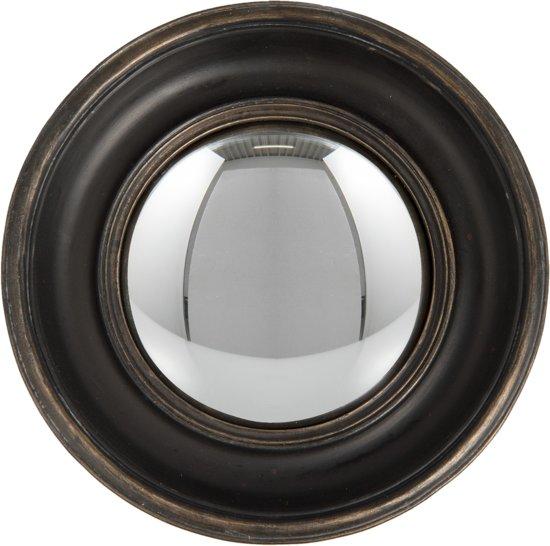Bolle spiegel ø 23*3 cm Zwart bruin | 62S128 | Clayre & Eef
