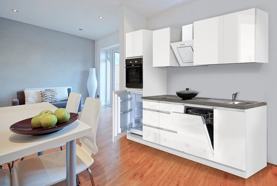 Complete Witte Hoogglans Keuken.Complete Keuken Meister Premium 280cm Wit Hoogglans