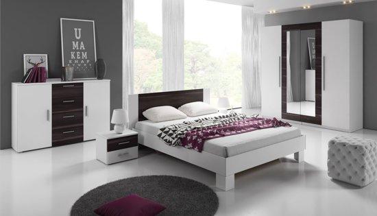 meubella slaapkamer victor 160 groot wit zwart