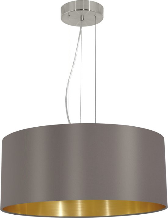 bol.com   EGLO Maserlo - Hanglamp - 3 Lichts - Ø530mm. - Nikkel-Mat ...