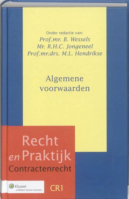 Boek cover Recht en Praktijk Contractenrecht 1 - Algemene voorwaarden van Jac. Hijma (Hardcover)