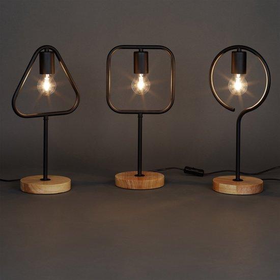 bol relaxdays moderne tafellamp zonder lampenkap