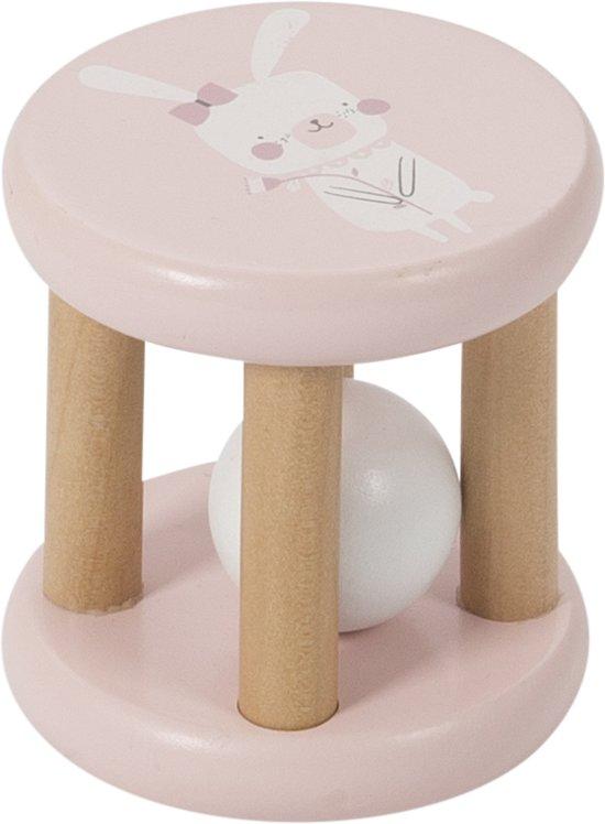 Afbeelding van Little Dutch Houten Rammelaar Adventure pink speelgoed