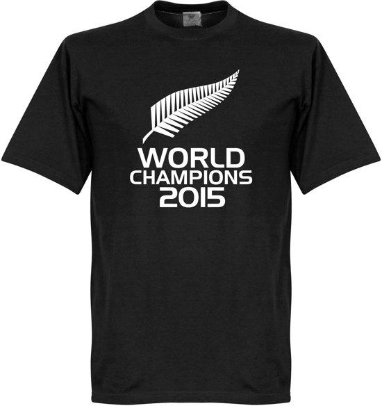 Nieuw Zeeland Rugby World Champions 2015 T-Shirt - S