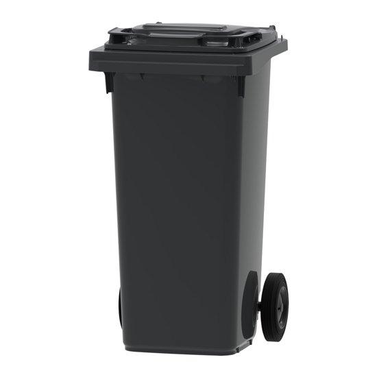 Kunststof Rolcontainer Afvalcontainer Mini-container 120 Liter Grijs