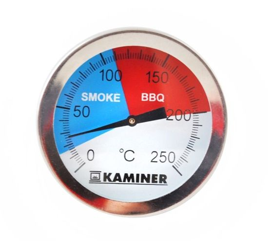 barbecue thermometer - tot 250 graden - 5 x 6.5 cm - 3 standen
