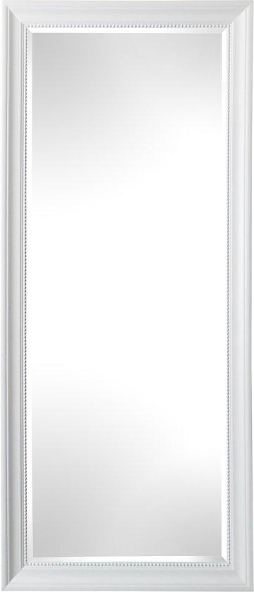 Qweens - Spiegel - Lotte- wit - buitenmaten breed 75 cm x hoog 105 cm.