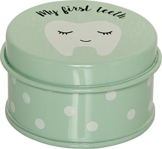 Bloomingville Mini - Box My First Teeth - Metaal - Mint