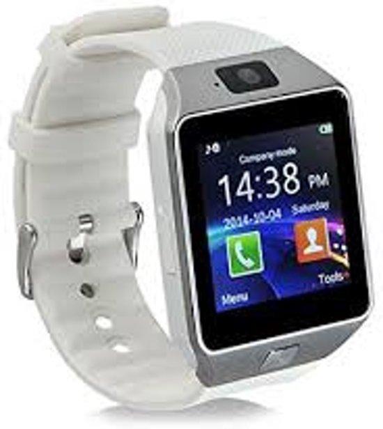 Luxe Smartwatch met camera Android  / Universeel Wit Samsung in Oost-Graftdijk