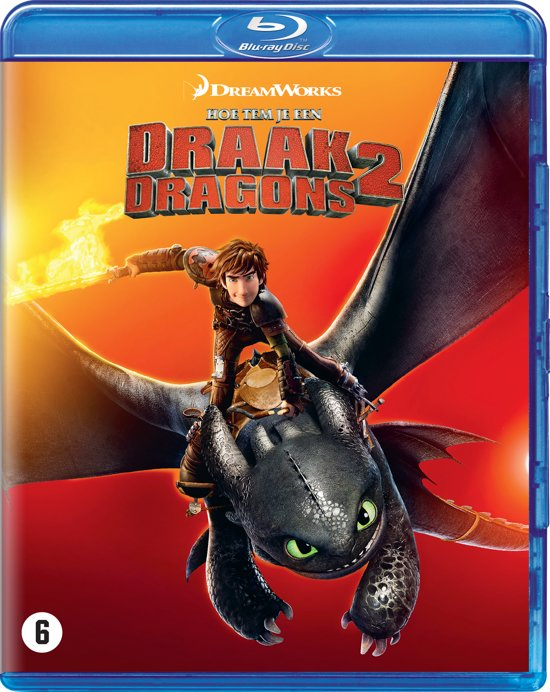 DVD cover van How To Train Your Dragon 2 (Hoe Tem Je Een Draak 2) (Blu-ray)