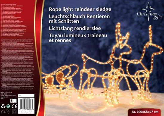 lichtslang rendieren met sleechristmas gifts