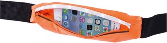 Grixx hardloop heupband met LED Optimum geschikt voor iPhone, Samsung en Huawei - Oranje