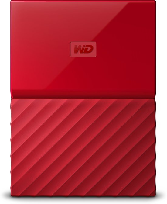 WD My Passport portable - Externe harde schijf - 3TB - Rood