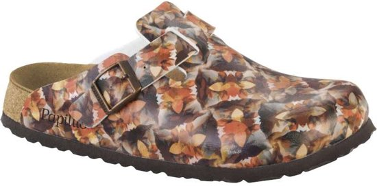Birkenstock Boston Caleidoscope Bruin Soft Footbed