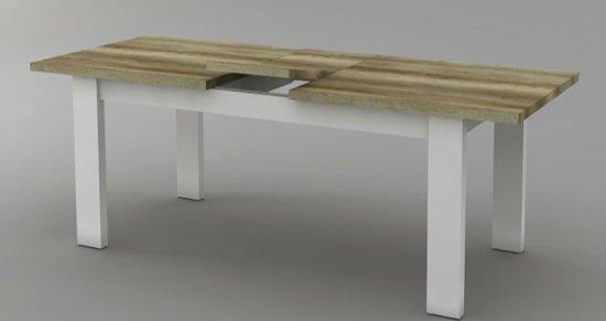 Uitschuifbare Eettafel White Wash.Landelijke Eetkamertafel White Wash Coventry Verlengbaar 190 230cm