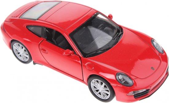 Welly Schaalmodel Porsche 911 Carrera S Rood
