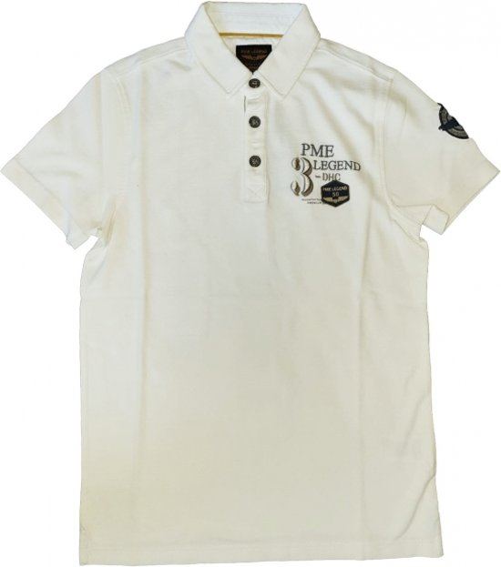 Pme legend ecru slim fit polo - Maat S