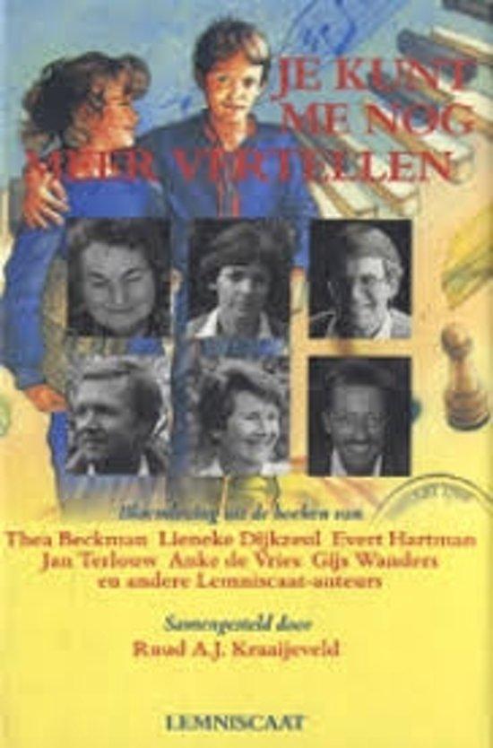 Boek cover Je kunt me nog meer vertellen van Thea Beckman (Hardcover)
