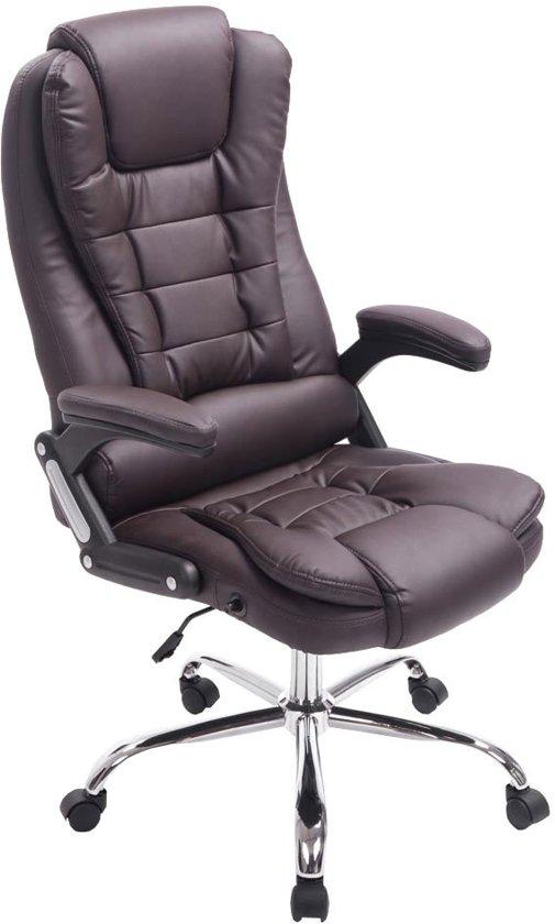 Oude Bureau Stoel.Clp Managerstoel Directiestoel Thor Bureaustoel Ergonomisch Belastbaar Tot 150 Kg Bruin