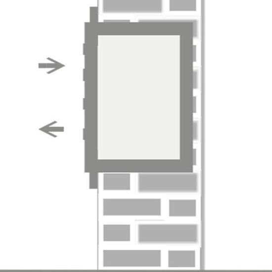 Brievenbus 3 adressen met rand (inbouw)