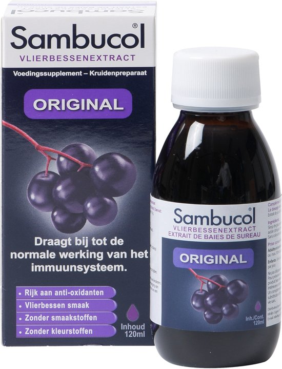 Sambucol Vlierbessen Siroop Original - 120 ml