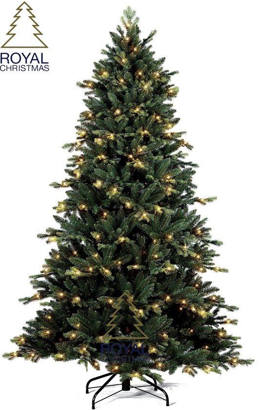 kunstkerstboom michigan pe pvc premium lengte 180 cm met 200 warm led lampjes