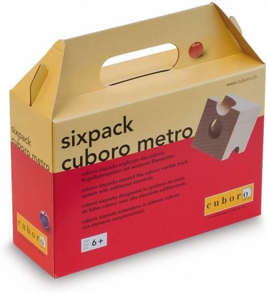 Cuboro Houten knikkerbaan Sixpack Metro