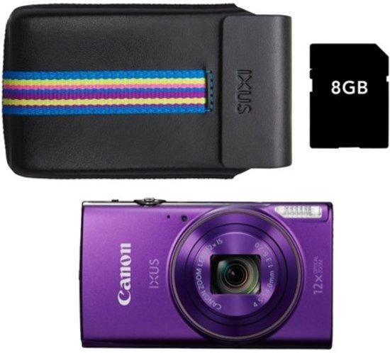 Canon IXUS 285 HS Paars - Premium Kit - Paars