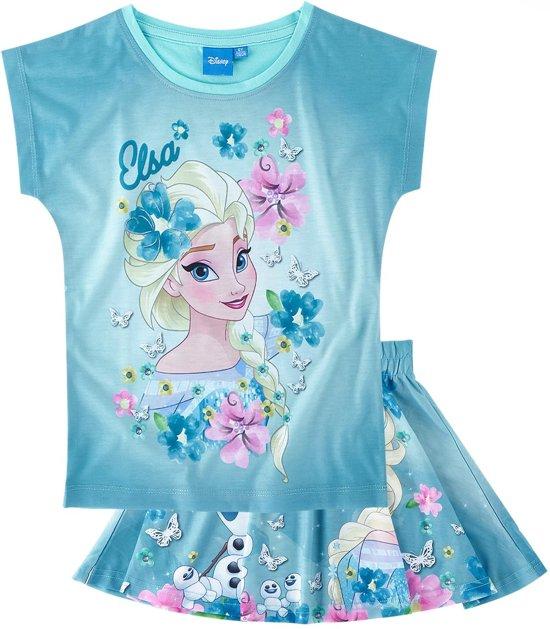 Disney-Frozen-T-shirt-met-rokje-blauw-maat-128
