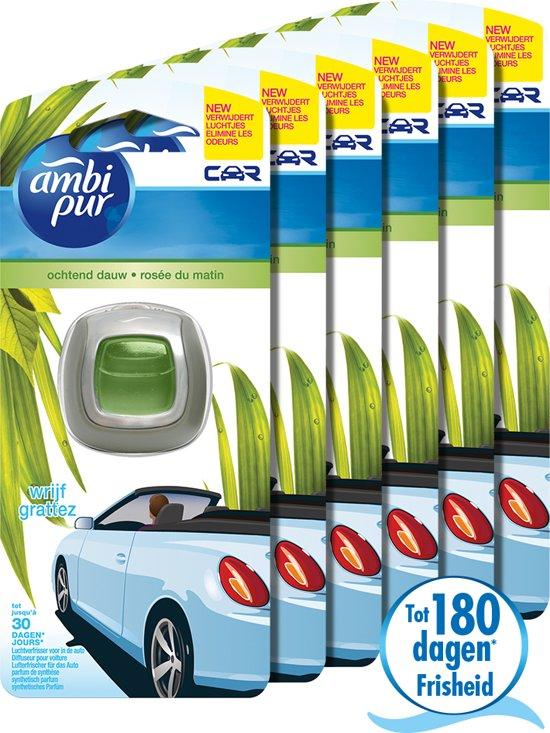 Ambi Pur Car Ochtend Dauw - 6 stuks - Clip On Auto Luchtverfrisser