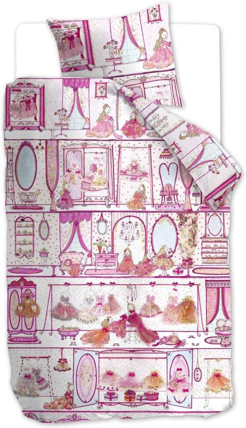 Beddinghouse Kids Princess Wardrobe - kinderdekbedovertrek - eenpersoons - 140x200/220 - Pink