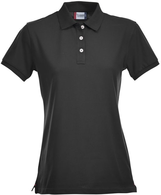 Clique Premium Dames Polo Zwart maat L