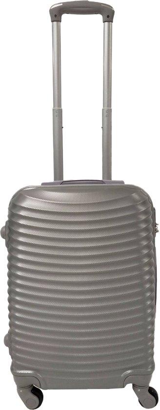 Handbagage koffer 51cm 4 wielen trolley - Zilver